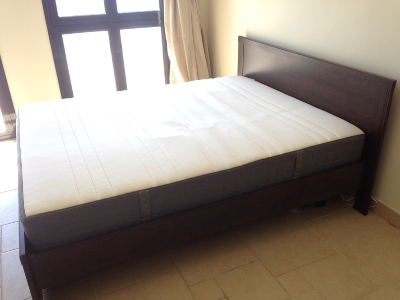Black Bed Frame With White Furniture