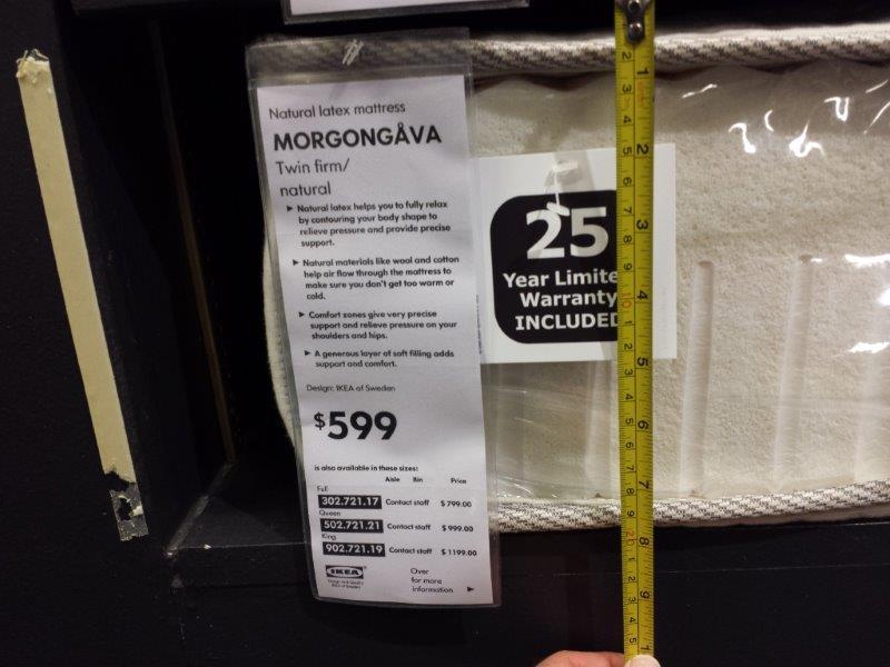 Ikea Morgongava Natural Latex Mattress Review Ikea
