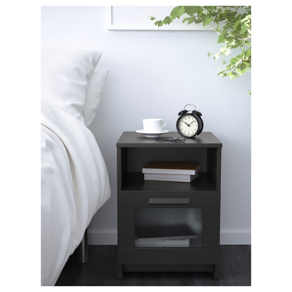 This Nightstand Provides A Shelf For Books As Well Drawer Smaller Items Cords Can Be Easily Drown Through The Back Of Creating Your