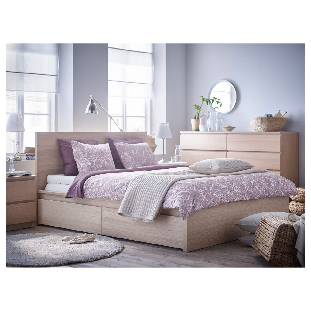 storage underneath with a double no frame full bedroom size platform build brown headboard white of drawers bed