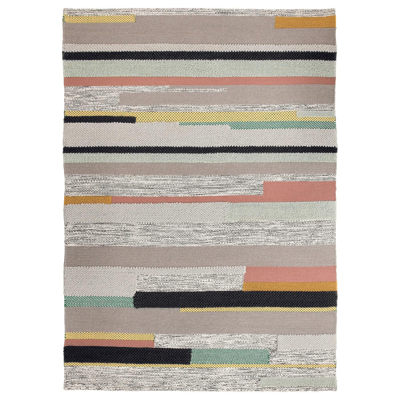 BRÖNDEN Rug, low pile, handmade multicolor