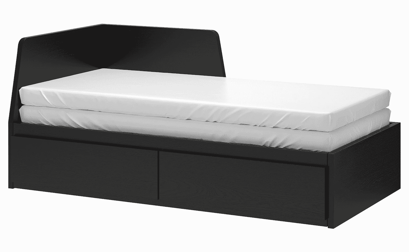 Flekke Day Bed Frame With 2 Drawers
