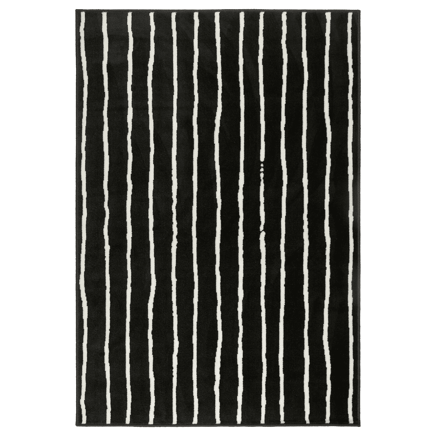 GÖRLÖSE Rug, low pile, black-white