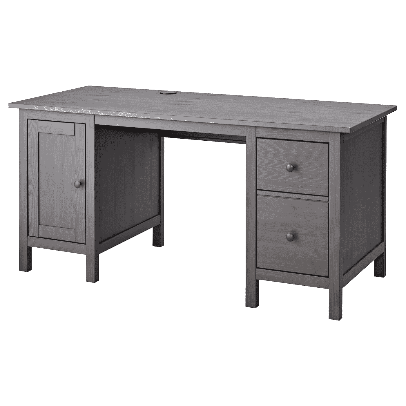 HEMNES Desk, dark gray stained