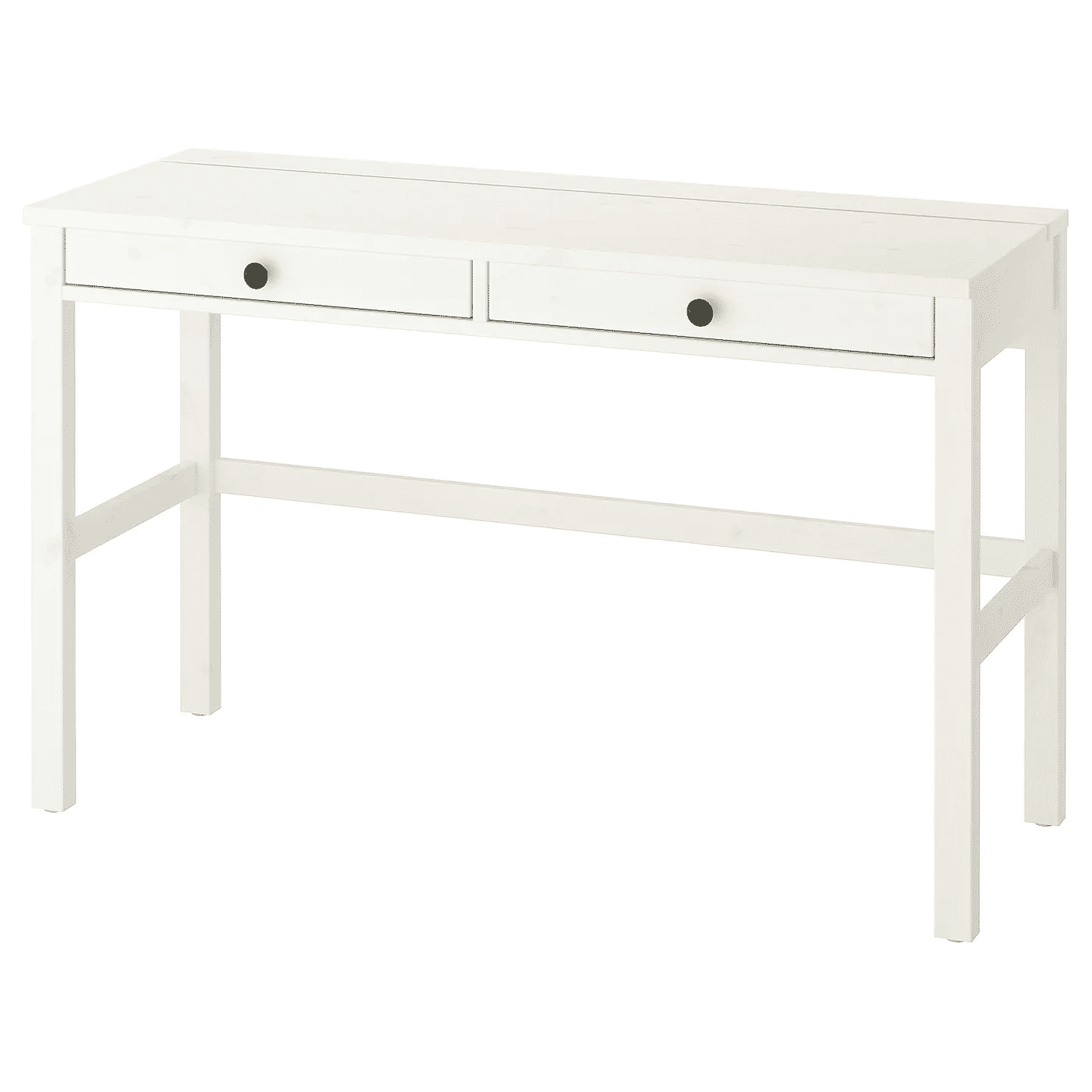 HEMNES Desk with 2 drawers, white stain