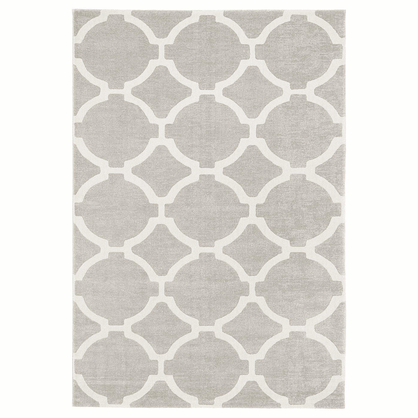 HILLESTED Rug, low pile, gray-white
