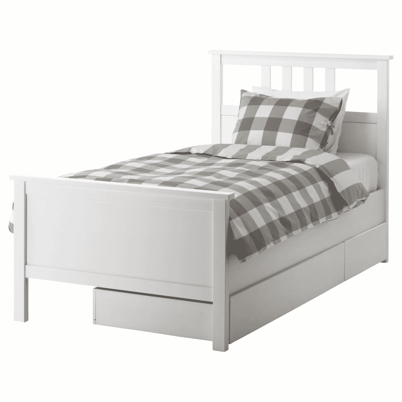 Hemnes Bed Frame with 2 Storage Boxes