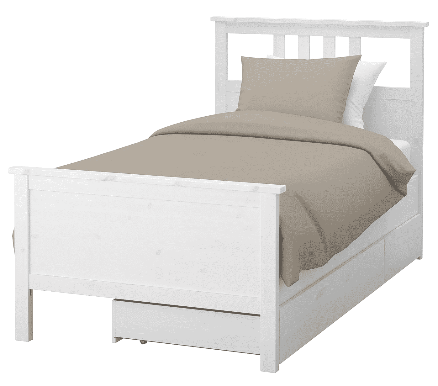 Hemnes Bed Frame with Two Storage Boxes