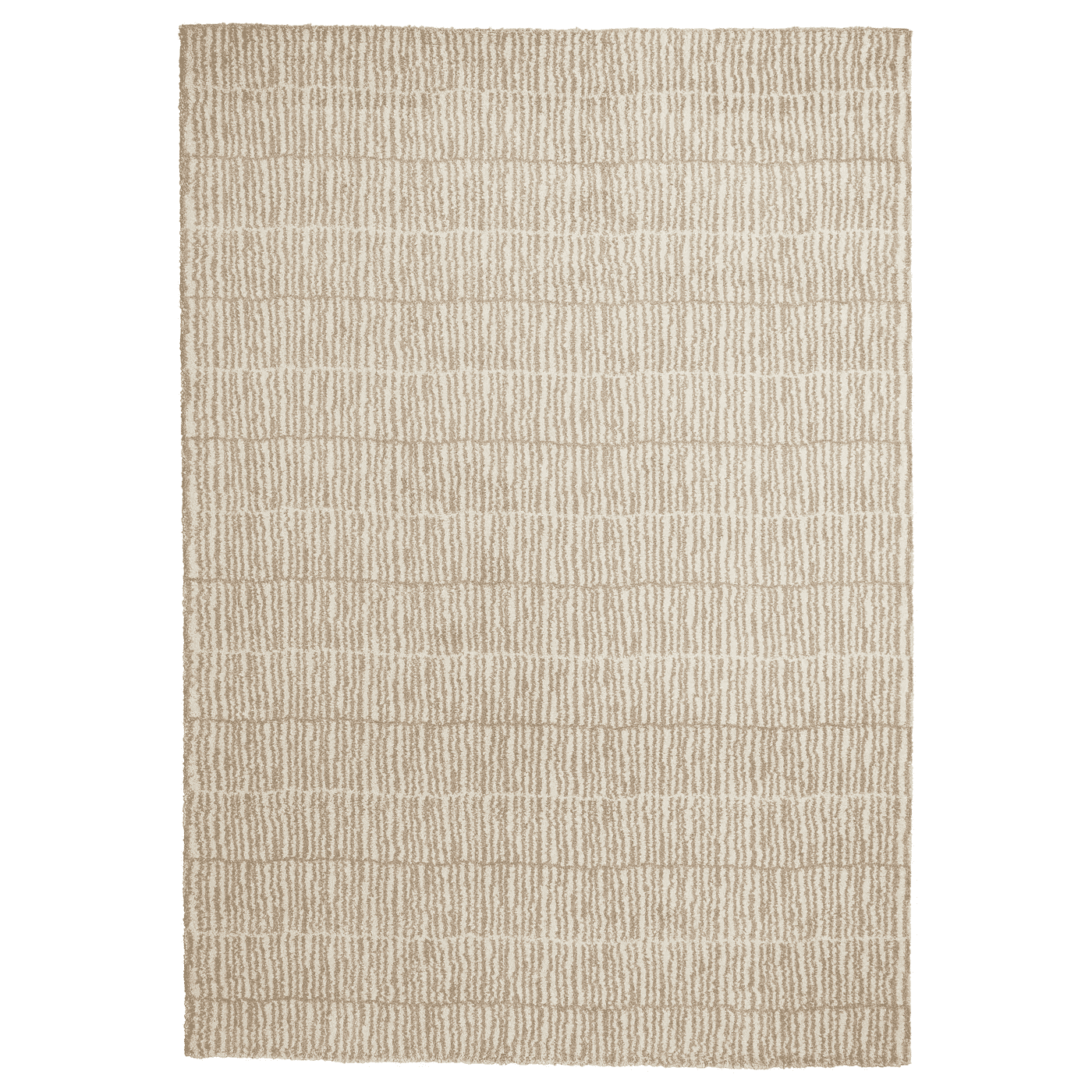 LINDELSE Rug, high pile, natural, beige