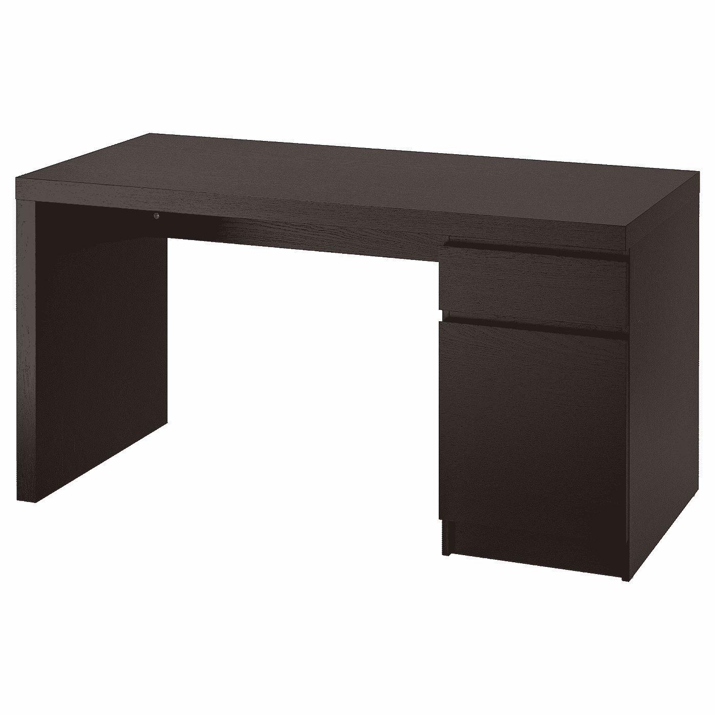 MALM Desk, black-brown