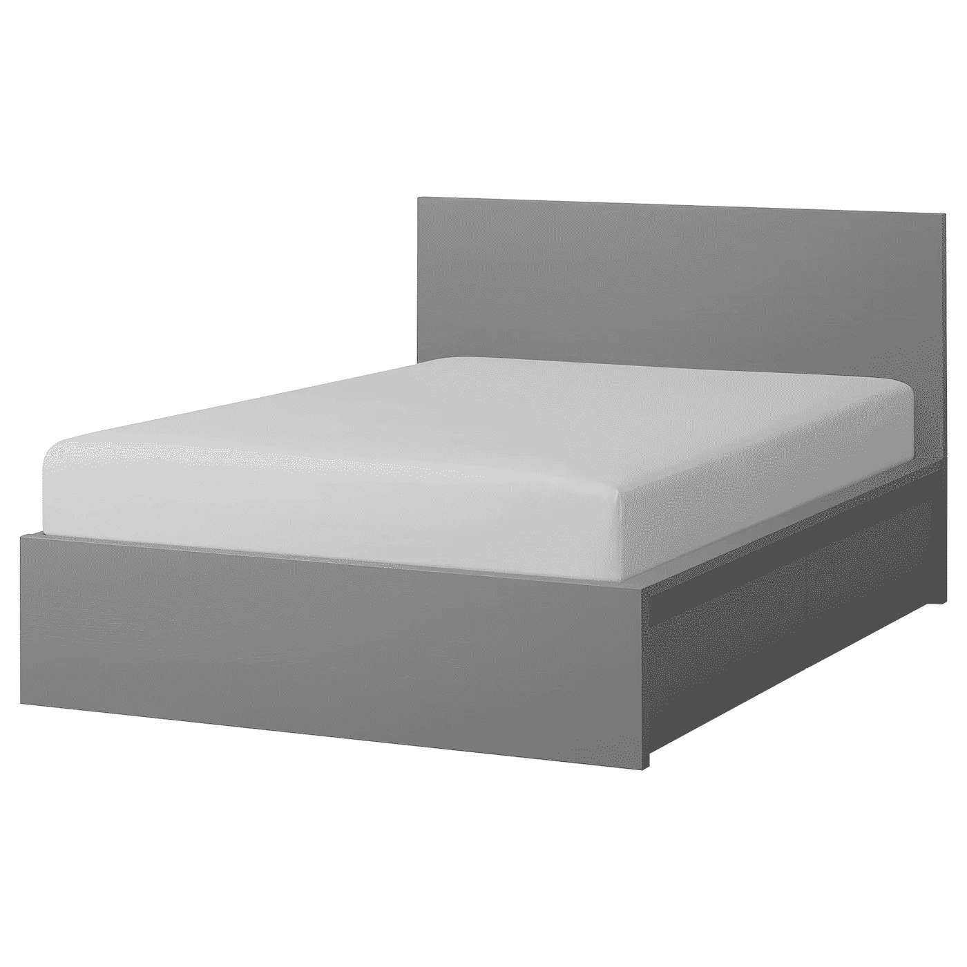 MALM high queen bedframe with storage