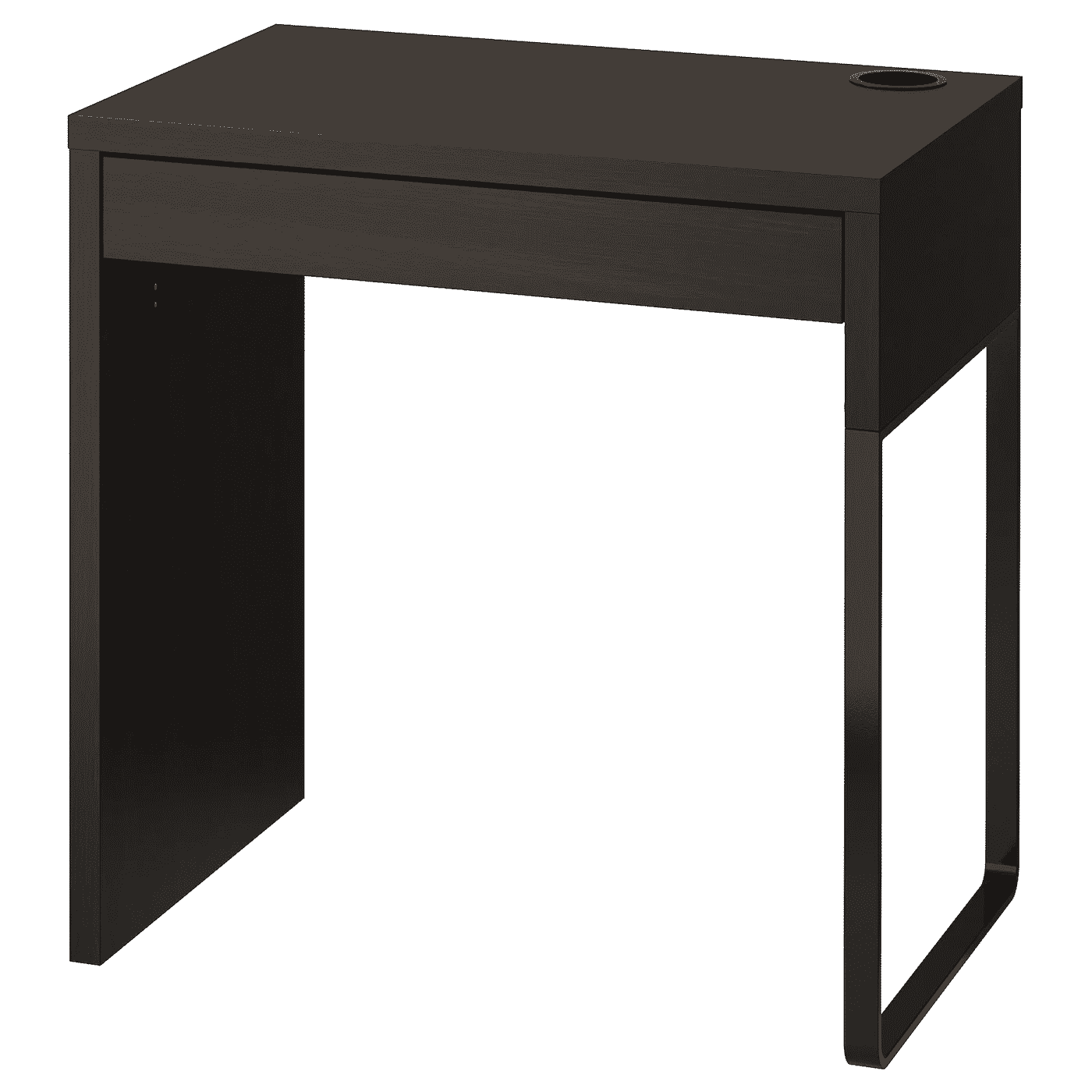 MICKE desk black-brown