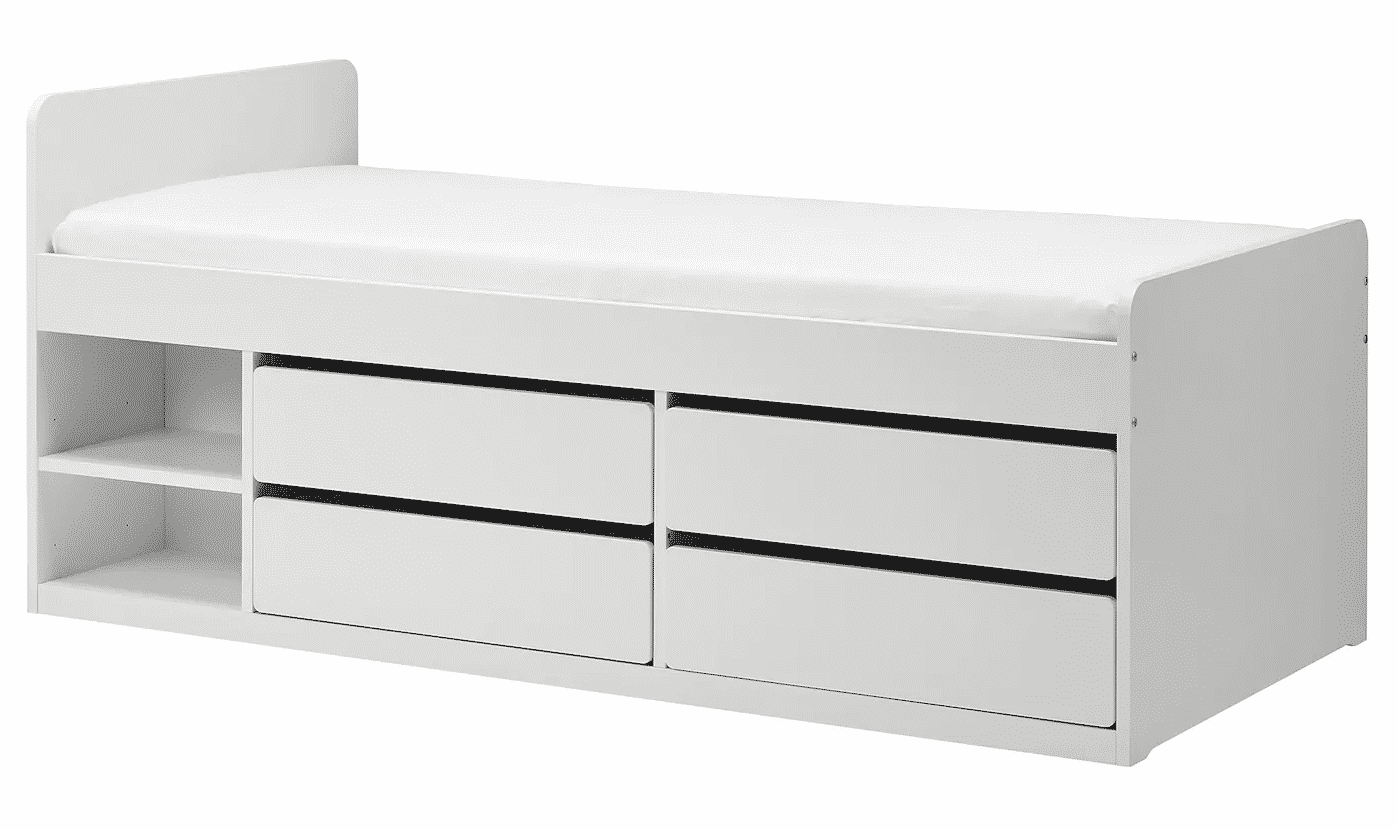 Slaekt Bed Frame With Storage Slatted Bedbase