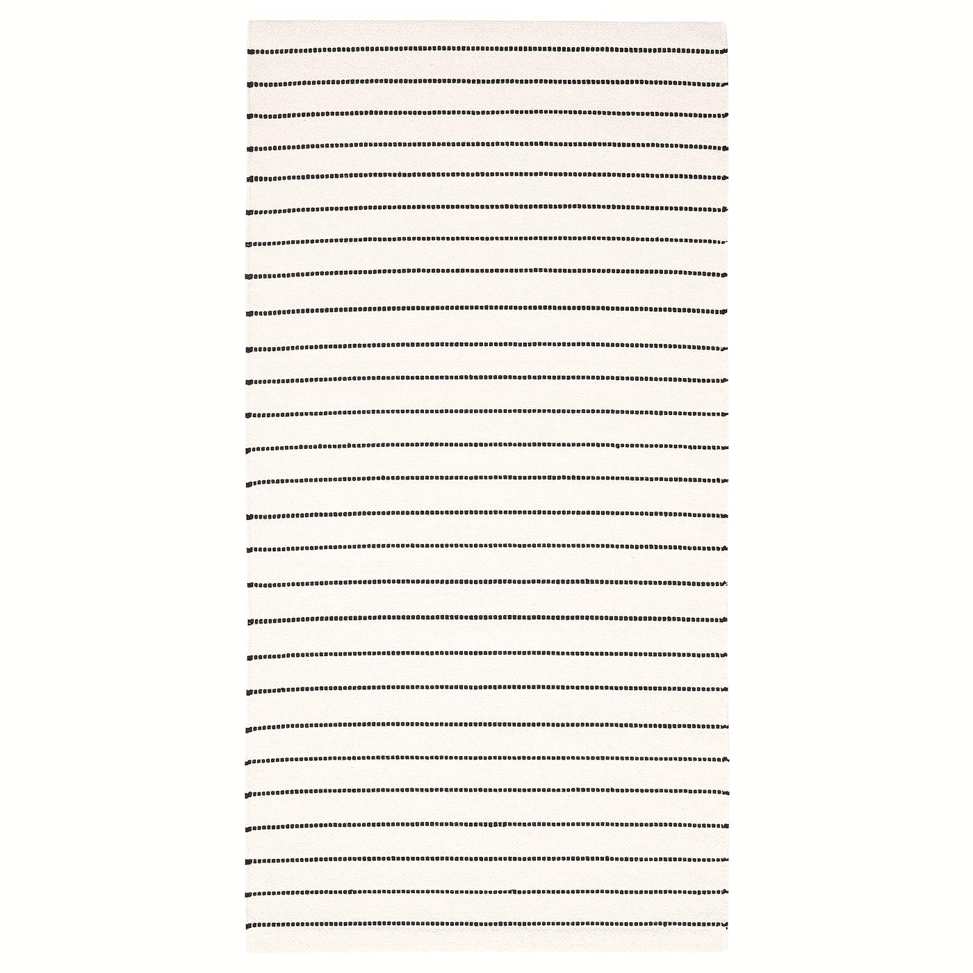 TÖRSLEV Rug, flat woven, stripe white, black