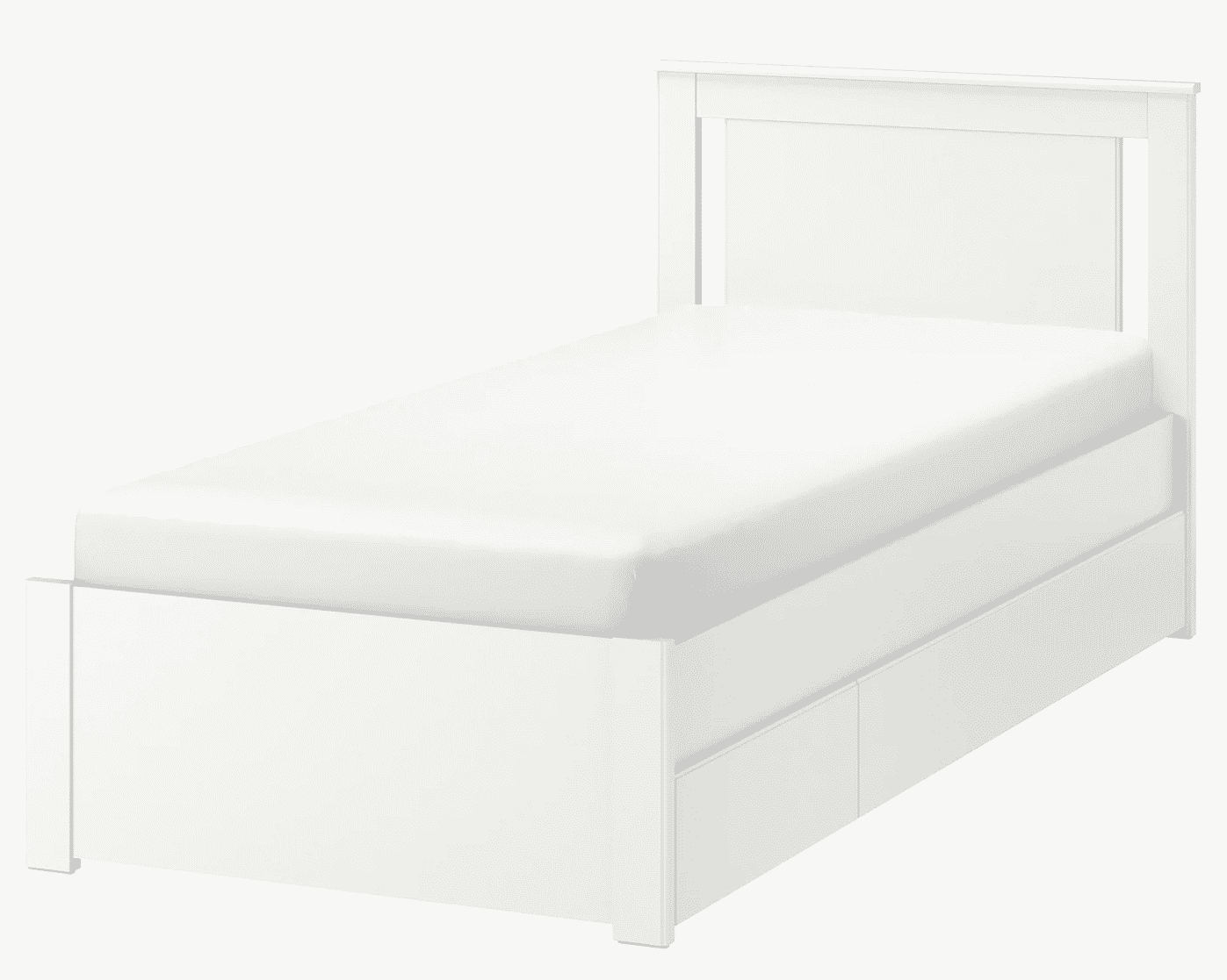 The Songesand Bed Frame with Two Storage Boxes
