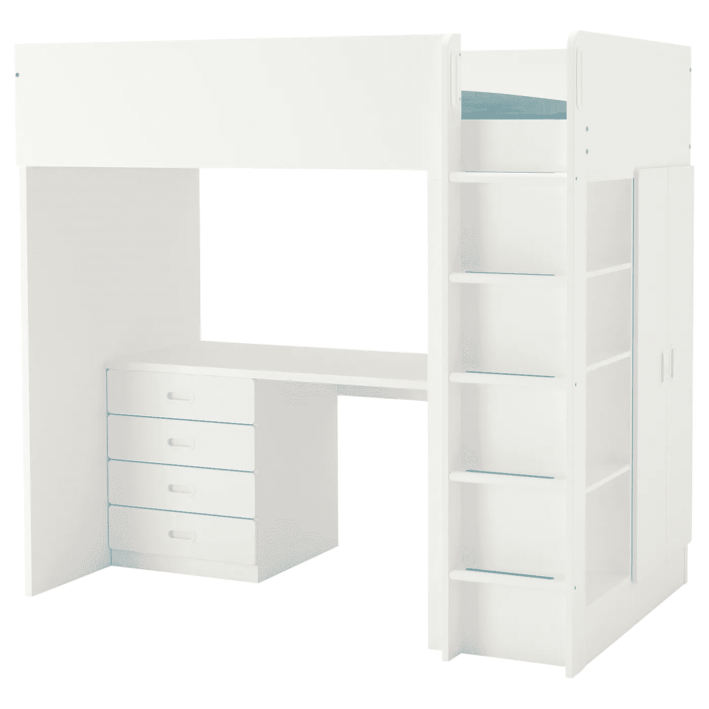 The Stuva Fritids Loft Bed with Four Drawers