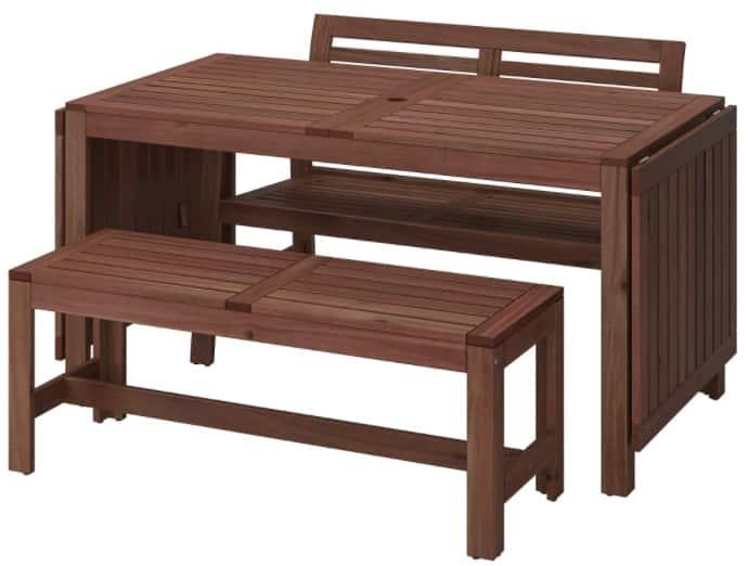 ÄPPLARÖ Table + 2 Benches