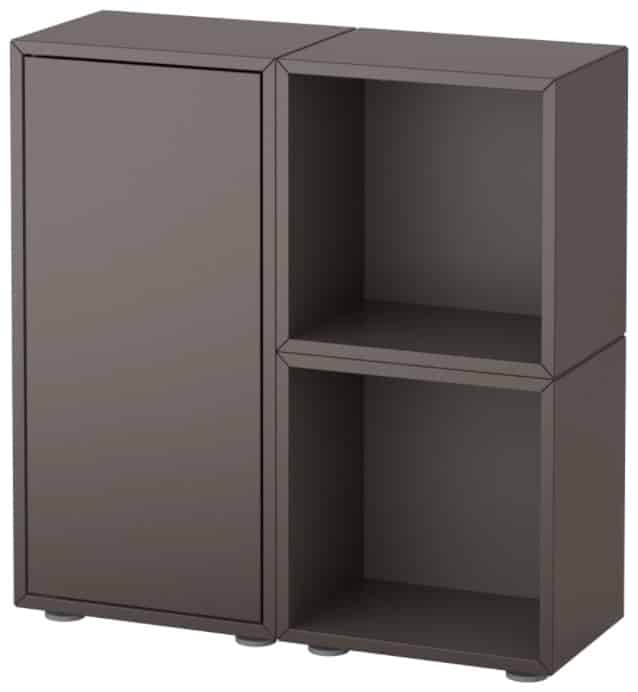 EKET Storage Combination with Feet, Dark Gray