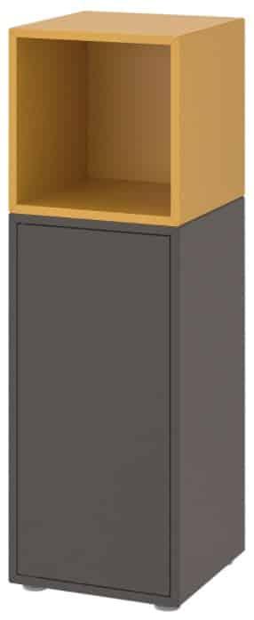 EKET Storage Combination with Feet, Golden Brown & Dark Gray