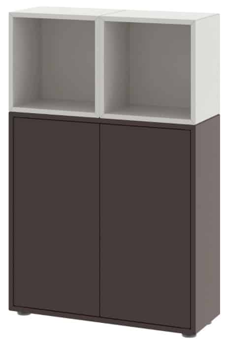 EKET Storage Combination with Feet, Light Gray & Dark Gray