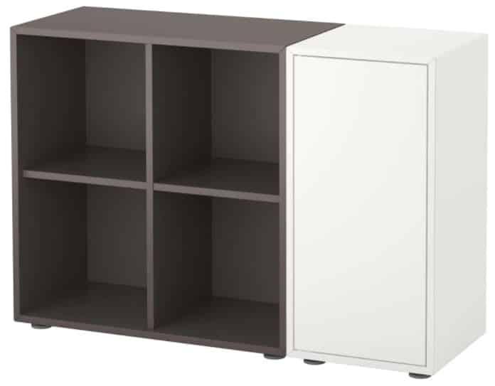 EKET Storage Combination with Feet, White & Dark Gray