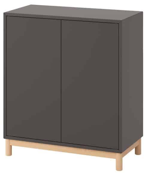EKET Storage Combination with Legs, Dark Gray