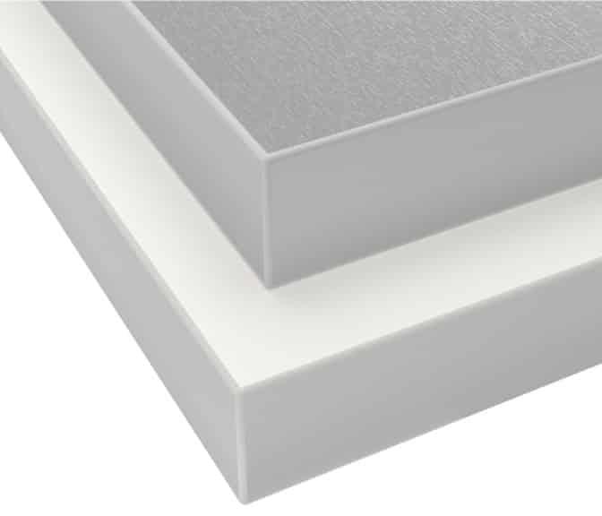 HÄLLESTAD Countertop, White Aluminum Effect, Double-Sided