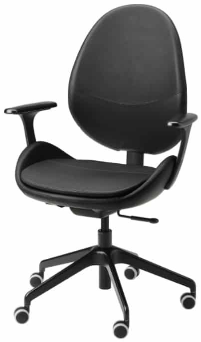 HATTEFJÄLL Office Chair with Armrests, Smidig Black