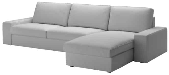 KIVIK Sectional with Chaise, 4-Seat