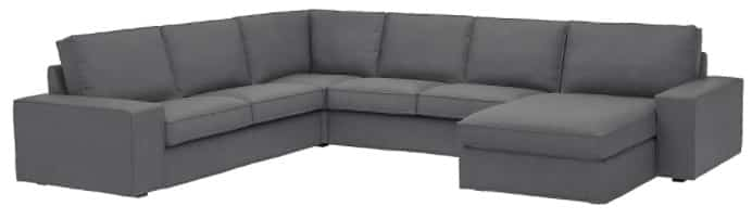 KIVIK Sectional with Chaise, 5-Seat Corner
