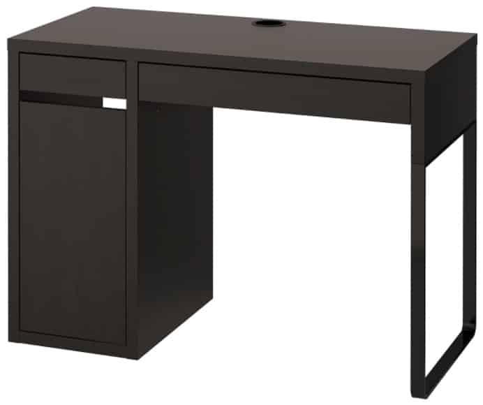 "MICKE Desk, Black-Brown 41 3 8 x 19 5 8"""