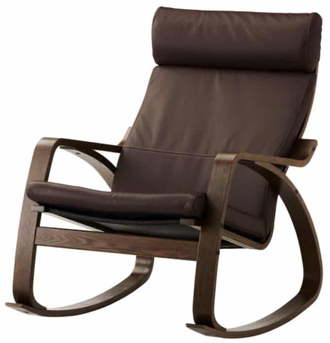 POÄNG Rocking Chair, Glose Dark Brown