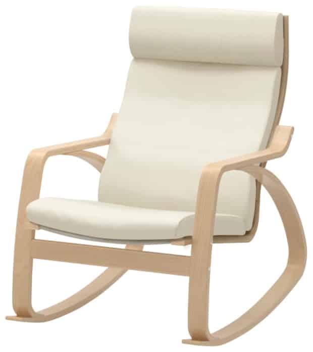 POÄNG Rocking Chair, Glose Off-White