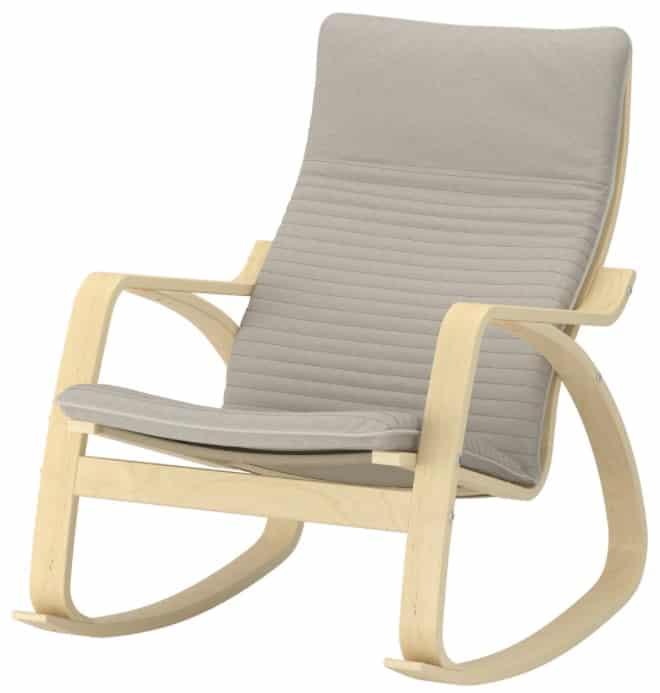 POÄNG Rocking Chair, Knisa Light Beige