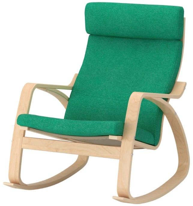 POÄNG Rocking Chair, Lysed Bright Green