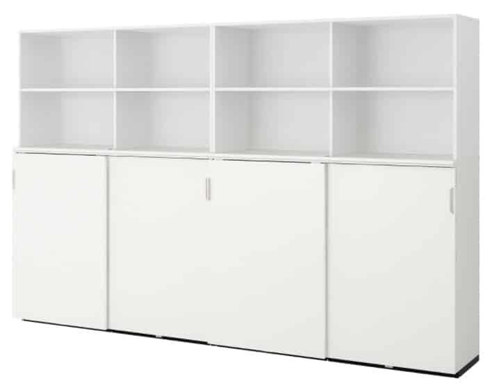 GALANT Storage combination w sliding doors, white