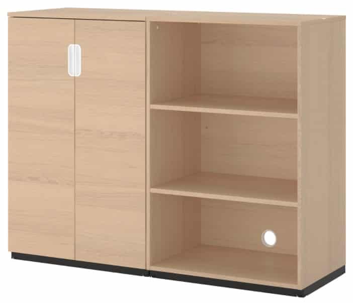 GALANT Storage combination, white stained oak veneer