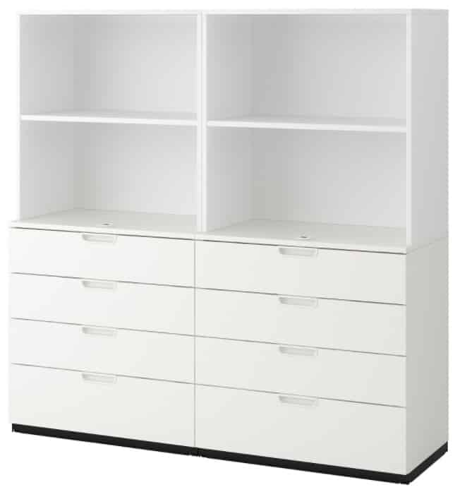 GALANT Storage combination with drawers, white