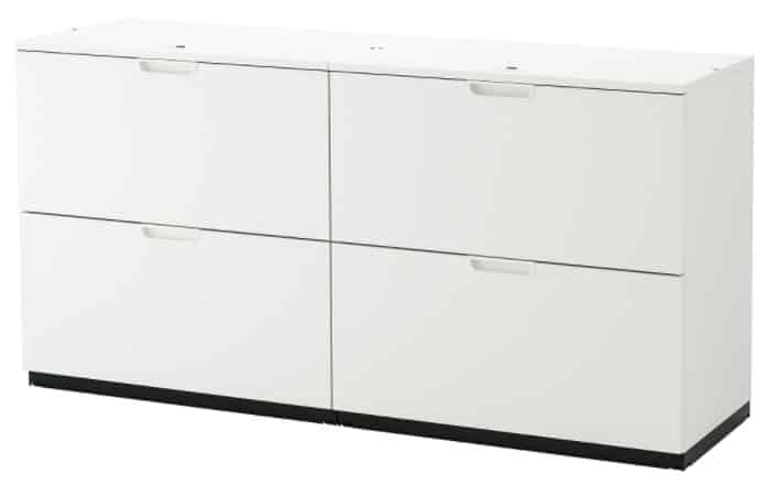 GALANT Storage combination with filing, 63 x 31 1 2