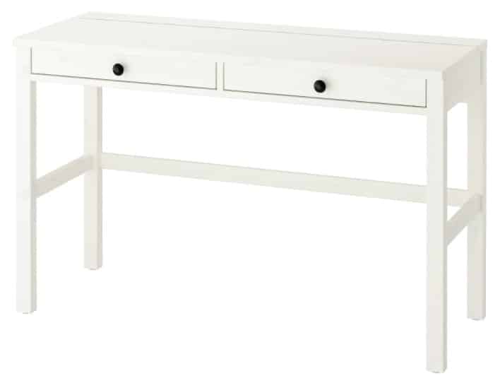 HEMNES Desk with 2 drawers