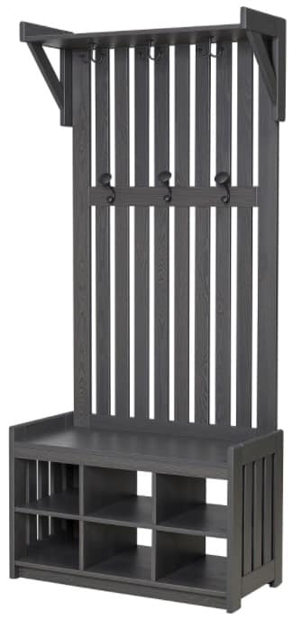 PANGET Coat Rack with Shoe Storage Bench