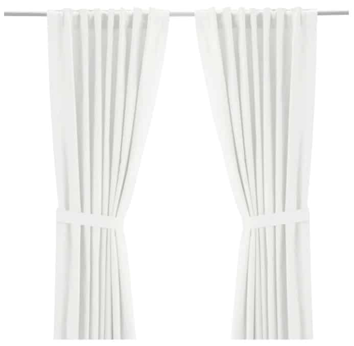 RITVA Curtains with Tie-Backs